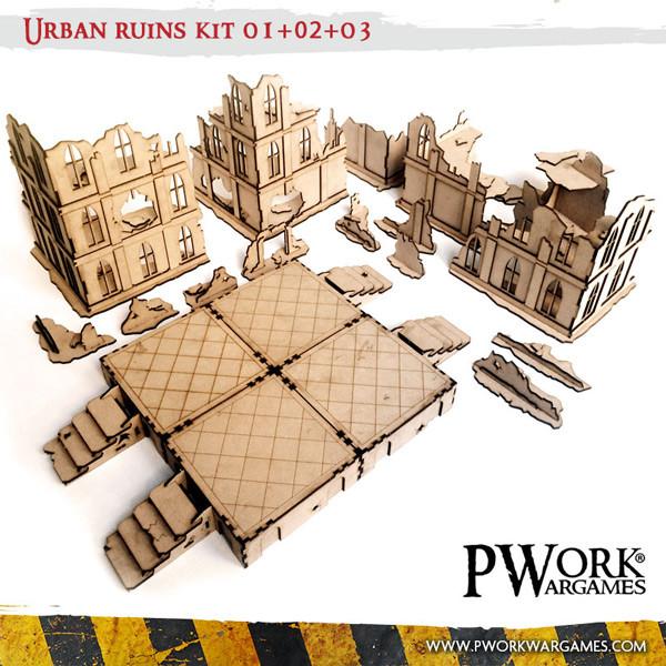 Urban Ruins 01 02 03 Mdf Terrain Scenery