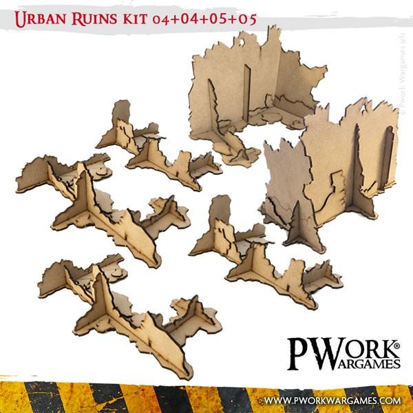 Urban Ruins 04 04 05 05 Mdf Terrain Scenery