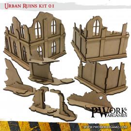 Urban Ruins 01 Mdf Terrain Scenery