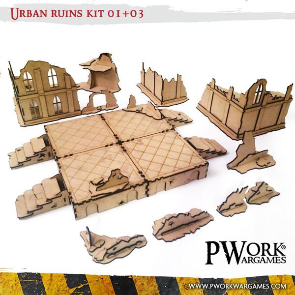 Urban Ruins 01 03 Mdf Terrain Scenery
