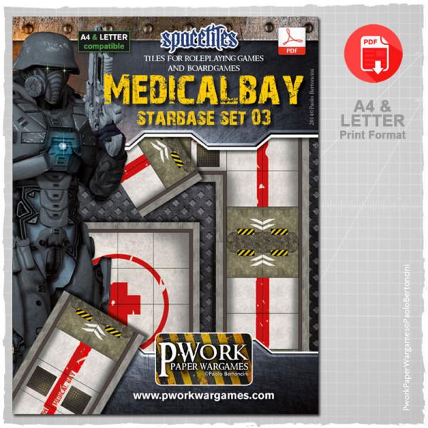 Medical Bay Starbase Set 03 Rpg Terrain Tiles