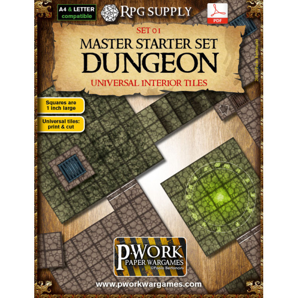 Master Starter Set: Dungeon - RPG Terrain Tiles