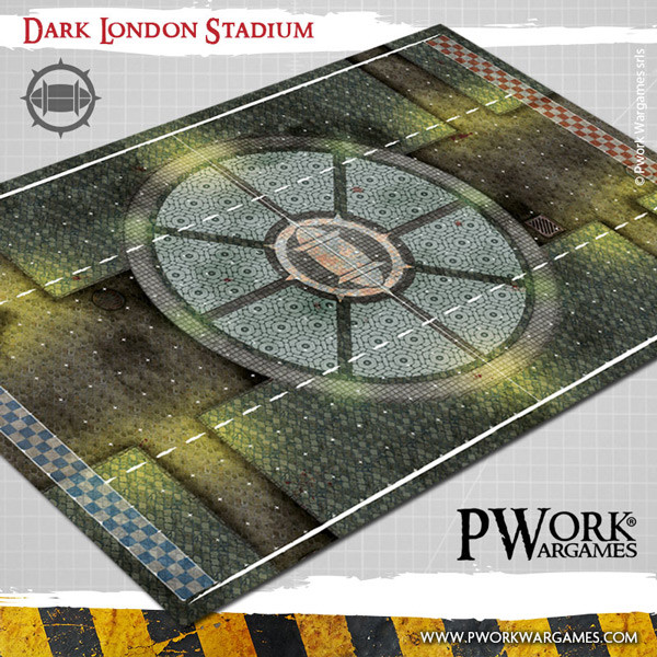 Dark London Stadium Fantasy Football Mat