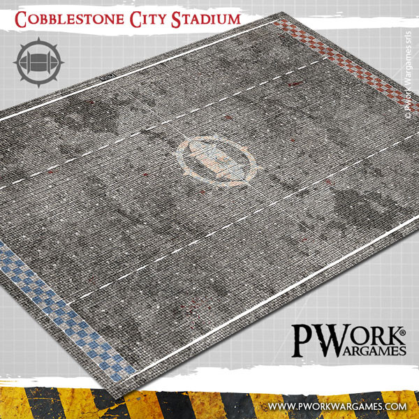Cobblestone City Stadium Fantasy Football Mat