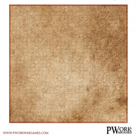 Battle grid for game table mat