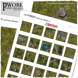 photo regarding 2d Printable Terrain identify The Forest - RPG Terrain Tiles
