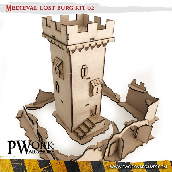 Medieval Lost Burg 02 - MDF Terrain Scenery