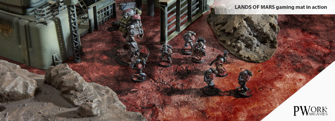 Sci fi tabletop games and battle mat